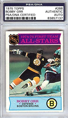 d 1975 Topps Card #288 Boston Bruins #83857137 - PSA/DNA Certified - Hockey Slabbed Autographed Cards ()