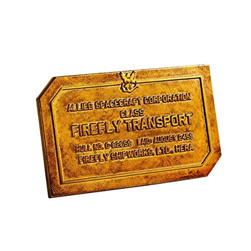 Qmx Firefly Mini Metal Serenity Hull Dedication Display Plaque Ship Coach Works (Serenity Collectibles)