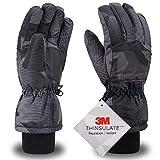 Simplity Ski Gloves Waterproof Mens Gloves for Cold