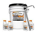 Opti-Lube Boost! Formula Diesel Fuel Additive: 5 Gallon Pail with 1 Heavy Duty Metal Pail Pump, 2 Empty 16oz Bottles, and 2 Empty 8oz Bottles Treats up to 12,800 Gallons