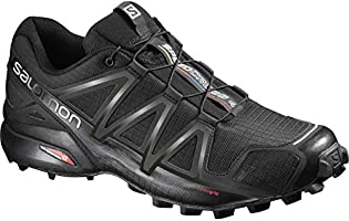 Salomon Homme Speedcross 4 Chaussures de Trail Running, Noir (Black/Black/Black Metallic), 42 2/3