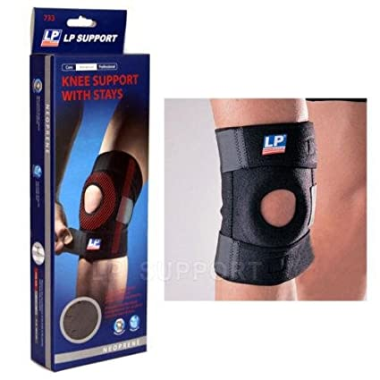 d6ddd05fa6 Amazon.com: LP 733 Knee Support Black with stays Neoprene compression braces  protective pad: Sports & Outdoors