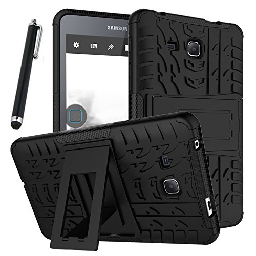 Galaxy Tab A 7.0 Case, Tab A 7.0 Case, Asstar Shockproof Heavy Duty Rugged Hybrid Kickstand Protective Case for Samsung Galaxy Tab A 7'' SM-T280 (2016 release) with 1x Stylus Pen for Free (Black) by Asstar