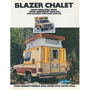 1976 1977 Chevrolet Blazer Chalet Camper Truck Brochure