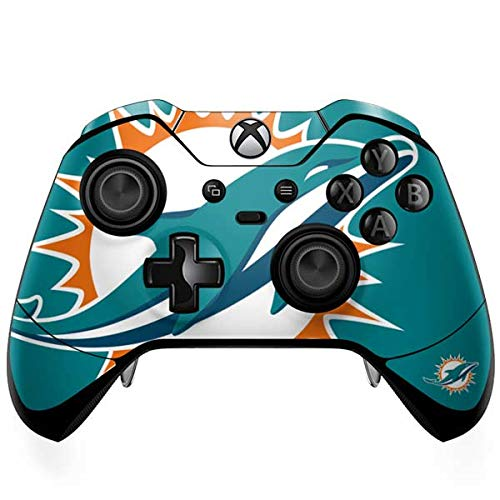 Skinit Miami Dolphins Large Logo Xbox One Elite Controller Skin - Officially Licensed NFL Gaming Decal - Ultra Thin, Lightweight Vinyl Decal Protection