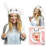 JSVER Bunny Hat Rabbit hat Ear Moving, Cute Pets