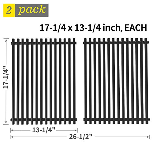 h Grill Grate Replacement for Charbroil 463411512, 463411911, Kenmore 122.16134, Nexgrill, Master Forge 1010037 and More, Porcelain Steel BBQ Cooking Grate Barbecue Grid(SS-KW009) ()