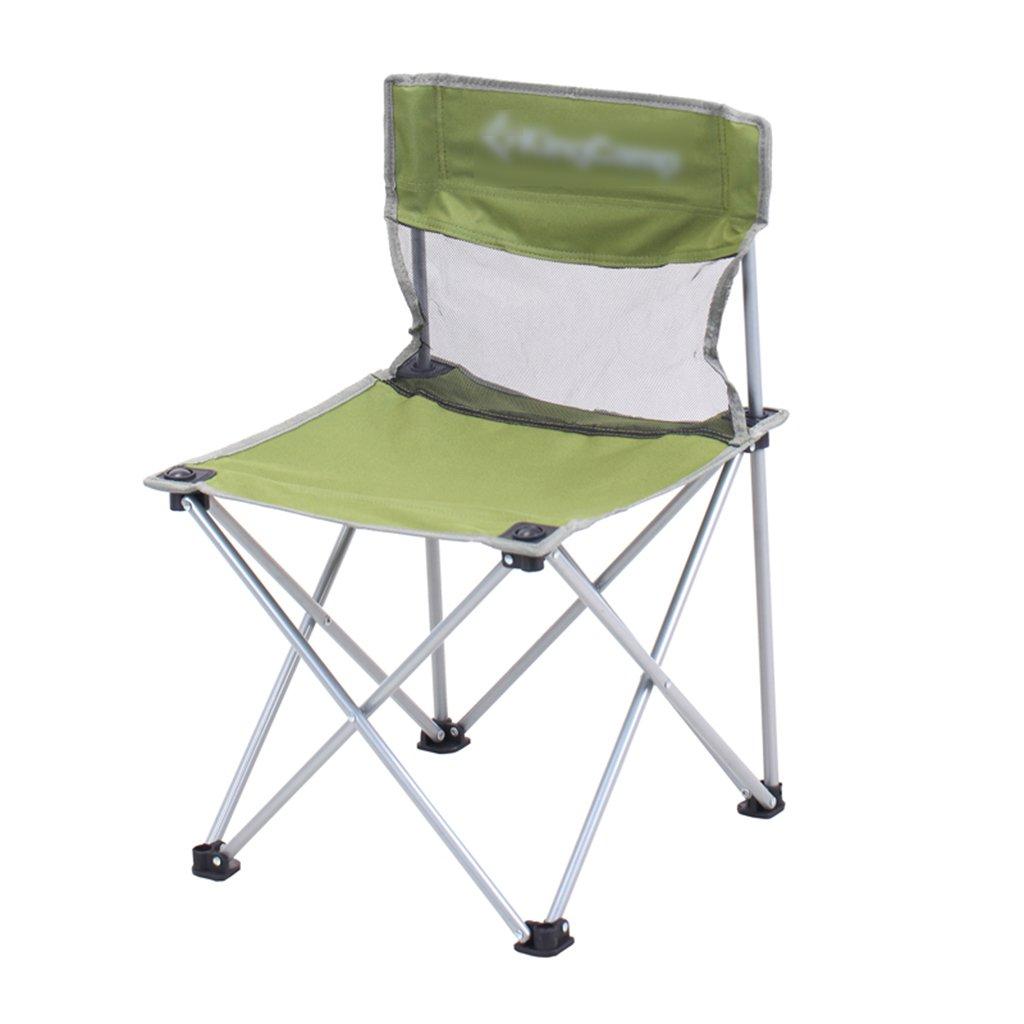ZGL 旅行椅子 屋外折りたたみチェアポータブルビーチカジュアルチェア折りたたみ釣り用スツール背もたれ椅子屋外椅子の色オプション ( 色 : 緑 ) B07C7C5LCF 緑 緑