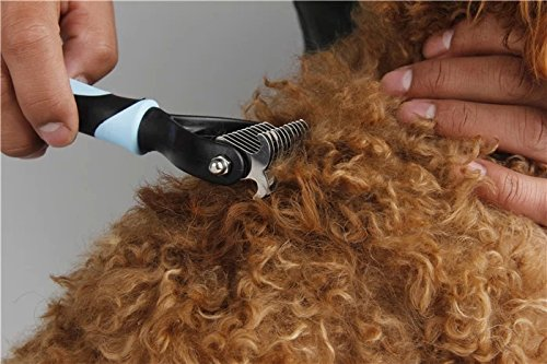 Professional Pet Dog Cat Grooming Undercoat Rake Comb Mat