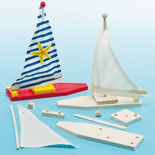 Baker Ross Make Your Own Wooden Sailboat Kits
