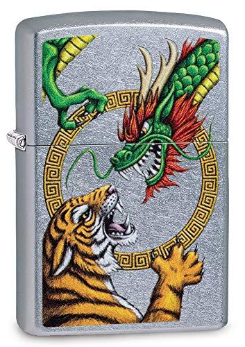 Zippo Chinese Dragon Design Street Chrome -