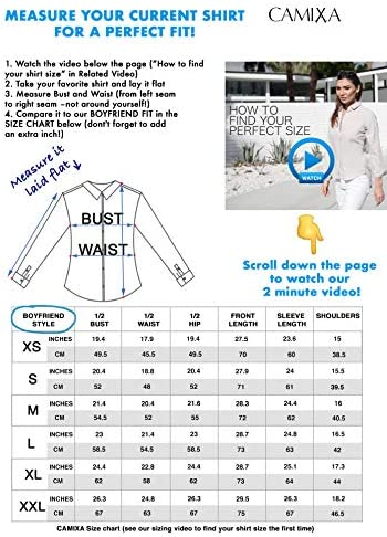 CAMIXA Women 100% Silk Blouse Long Sleeve Ladies Shirt Satin Charmeuse Work Top