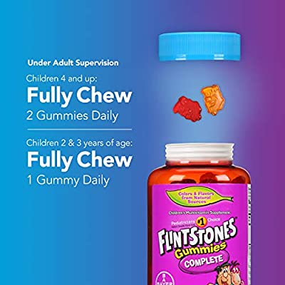 Flintstones Gummies Children's Multivitamins, Kids Vitamin Supplement with Vitamins C, D, E, B6, and B12, 180 Count