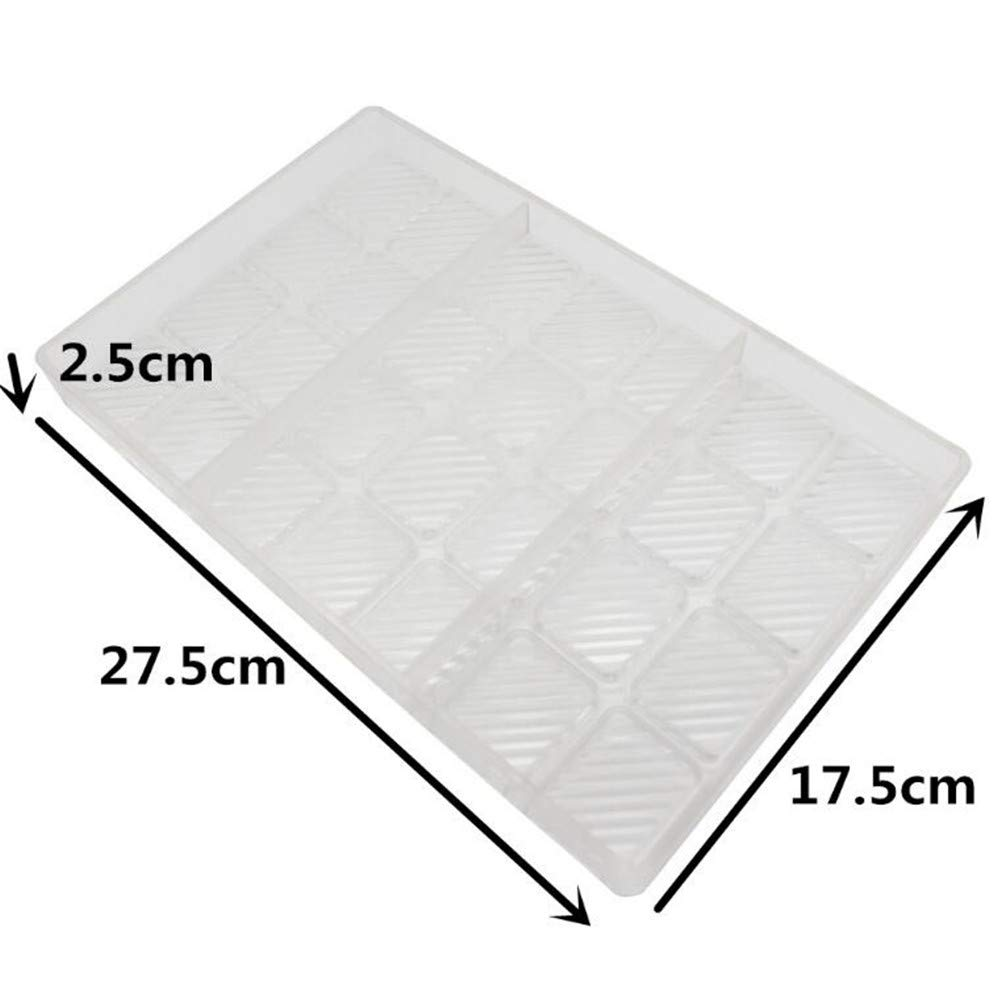 24 Cavities Twill Chocolate Mould Polycarbonate Chocolate Bars Mold Chocolate Cake Maker Dessert Pastry Baking Tray, Sweet Candy Bakeware Pan,DIY Handmade Ice Mold Baking Dish - 27.5x17.5x2.4cm
