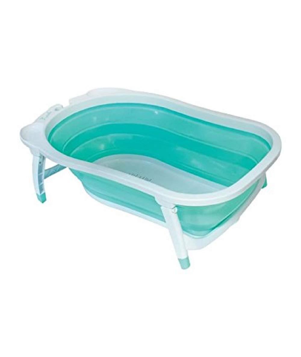 BabySun Baignoire Bébé, Pliable Ultra Compacte, 0-12 Mois, Contenance : 35L, Turquoise product image