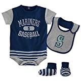 MLB  Seattle Mariners Newborn Boys Bib & Booty-0/3 Months