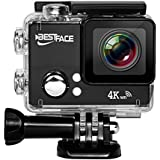 BestFace Sports Action Camera 4K Ultra HD WiFi HDMI 2.0 LCD Screen Waterproof DV for Outdoor Sporting Black