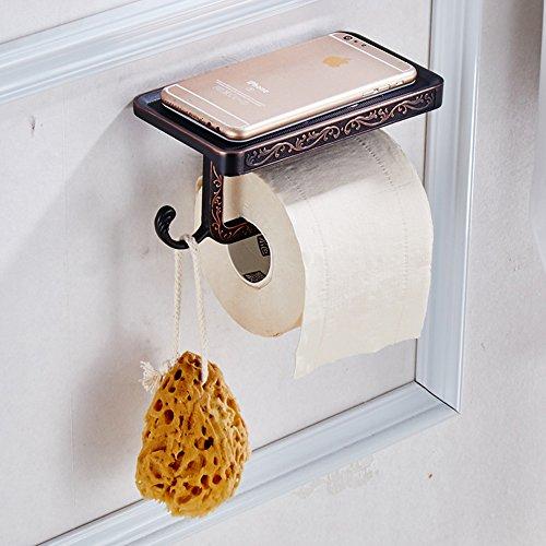 labkiss lk037bagno porta rotolo porta carta igienica da parete Vintage Multifunzione Con Gancio, per mensola