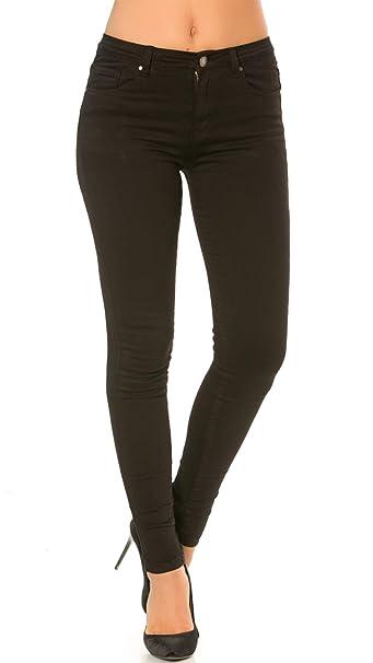 Nina Carter Mujer Vaqueros Slim, Skinny Pantalones Jeans Stretch de Color Talla 34 a 42