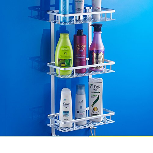 high-quality Space aluminum three-tier bathroom rack/Toilet wall hanging racks-A