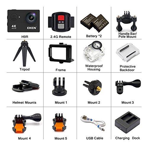 EKEN H9R Action Camera 4K WiFi Full HD 4K 30fps 2 7K 30fps 1080P
