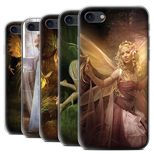 Officiel Elena Dudina Coque / Etui Gel TPU pour Apple iPhone 7 / Pack 10pcs Design / Fées Élégantes Collection