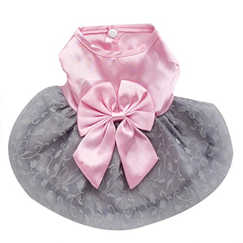 [DEESEE(TM) Pet Puppy Small Dog Cat Princess Tutu Dress Clothes Costume (XXL, Pink)] (Halloween Costumes For Dogs Uk)