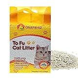 GREENENQI Natural Flushable Unscented Tofu Corn Cat Litter 6.17lbs