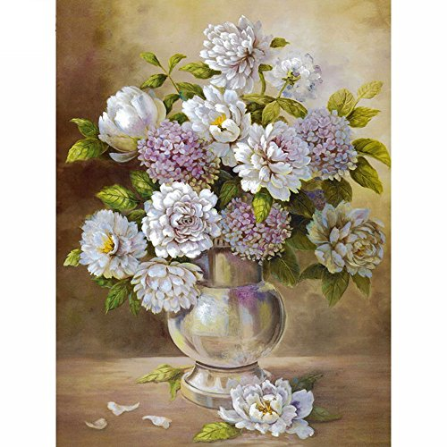 5D DIY Diamond Painting,NACOLA Resin Pictures Of Crystals Embroidery Kits Arts Crafts & Sewing Cross Stitch For Home Decoration-Vase And Flowers