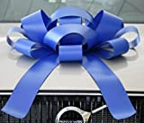Eight24hours Big Car Bow Magnetic Back Vinyl No Scratch Large Gift Bow - Blue
