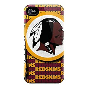 Fashion Tpu Case For Iphone 4/4s- Washington Redskins Defender Case Cover