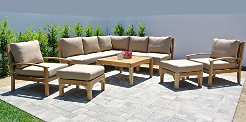 Coal Outdoor Fabric (Willow Creek Designs 10 Piece Huntington Sectional Seating Group with 36