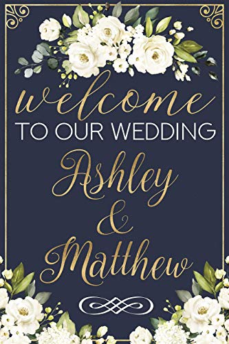 Flower Design Wedding Welcome Sign, Party Decorations, Wedding Decorations, Wedding Party Poster, Wedding Banner, Handmade Party Supplies, Welcome Sign, Handmade Party Decorations Size -36x24, 18x24