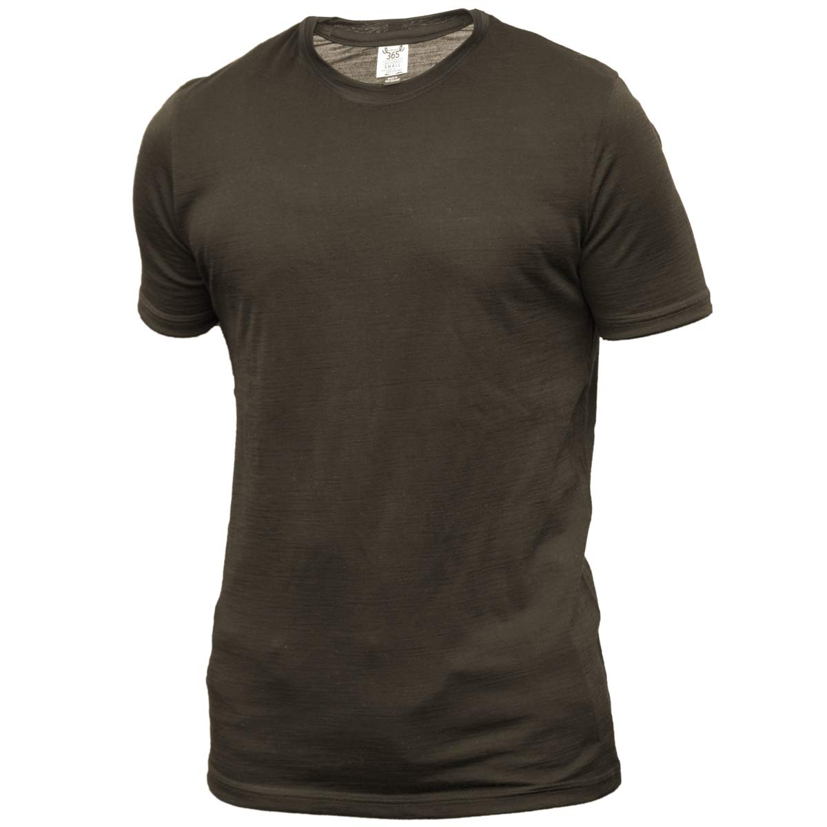 Merino 365 Men's Crew Short Sleeve X-Large, Olive by Merino 365