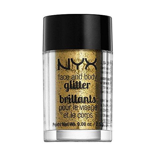 NYX Cosmetics Face & Body Glitter Gold