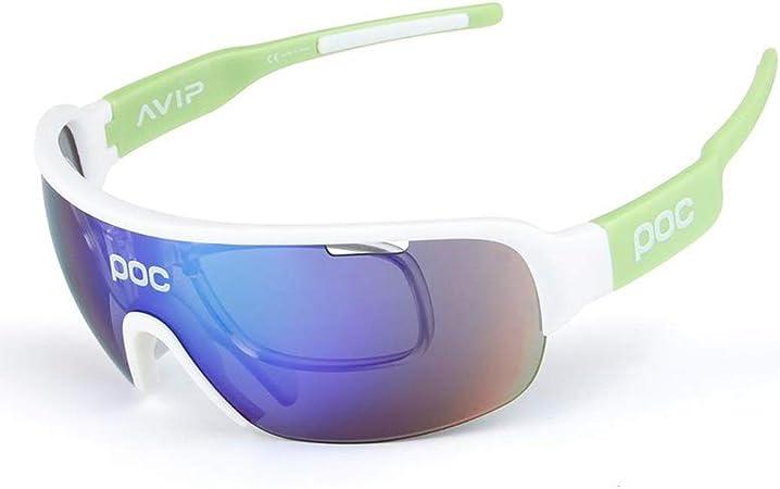 OPEL-R Giro in bici allaperto alla moda nel polarizzata occhiali//TR90 materiale resistente agli urti sport occhiali//contiene cinque lenti