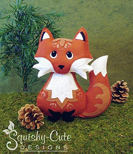 Red Fox Sewing Pattern - Stuffed Animal Plushie Felt Plush Pattern & DIY Tutorial