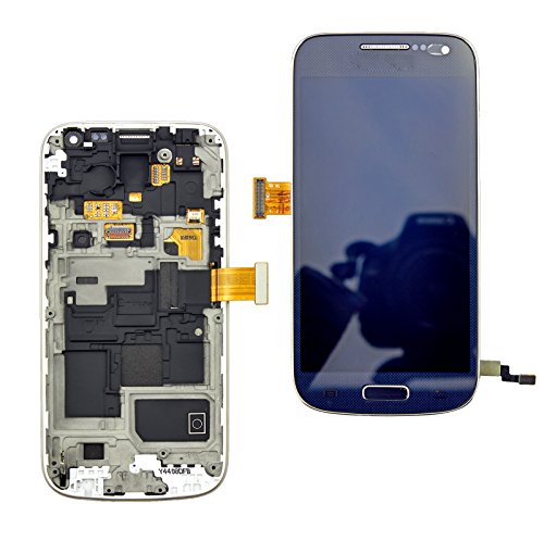 LCD Screen Touch Digitizer Assembly Kit for Samsung Galaxy S4 Mini I9190 I9192 + Bezel Frame with Free Tools Black