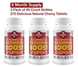 3 Pack of B12 Sublingual Vitamin B Complex Energy Pill with B12 Methylcobalamin B6 Biotin & Folic Acid. Natural Energy Supplement Helps Metabolism & Stress. Great Cherry Flavor! Caffeine Free