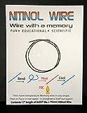"Nitinol Memory Wire 12"" Length x .03"" Diameter"