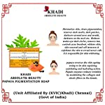Khadi Absolute Beauty Multani Mitti & Papaya Pigmentation Beauty Bath Soap, 100 G Each (Pack of 6)