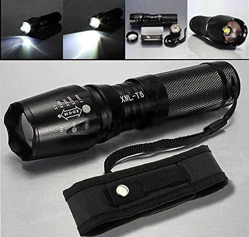Montreal 5 Light Chandeliers (WALLER Paa 10000LM XML T6 LED Zoomable 5 Modes Tactical Flashlight 26650/18650 Torch)