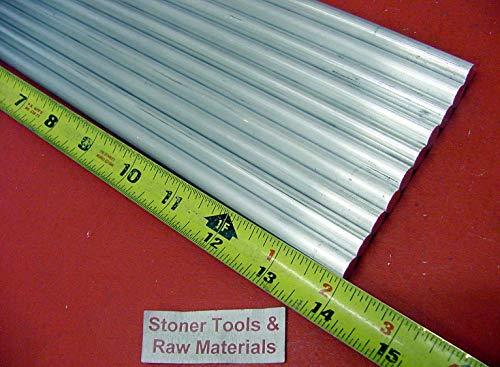 20 Pieces 5/16'' Aluminum Round 6061 Rod 14'' Long Solid T6511 New Bar Stock .312''
