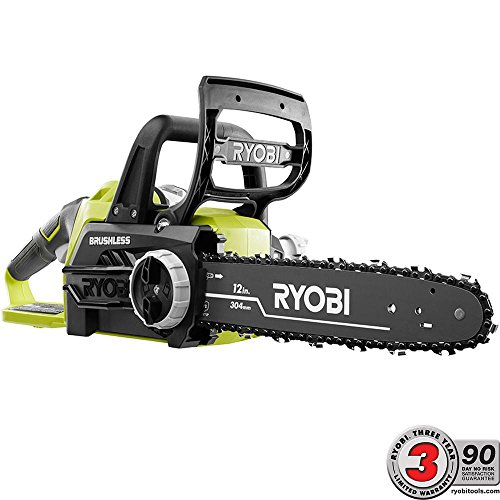 Cheap Ryobi ONE+ 12 in. 18-Volt Brushless Lithium-Ion Electric Cordless Chainsaw – 4.0 Ah Battery and Charger Included