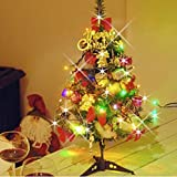 A2Z PVC Tripod Artificial Christmas Tree with Multi-coloured Lights, Green Leaves, 1.5 ft/19 Inches