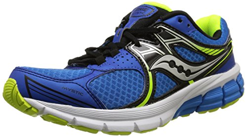 Saucony Mystic - Zapatillas de Running Unisex, Color Azul Royal/Negro/Citron