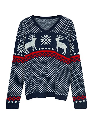 Choies Men's Blue Ugly Christmas Sweater Fashion Christmas Sweater With Snowflake Pattern m Christmas Mens Fashion