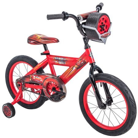 Huffy 16″ Disney/Pixar Cars Lightning McQueen EZ Build Kids Bike with Sounds, Red