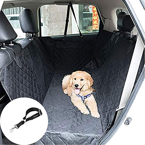 Teenidea Dog Car Seat Covers, Upgraded Dog Seat Covers with Mesh Visual Window, Dog Seat Cover for Back Seat Waterproof Non-Slip