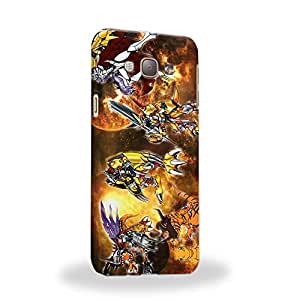 Case88 Premium Designs Digimon Adventure Augmon Greymon MetalGreymon WarGreymon 0939 Carcasa/Funda dura para el Samsung Galaxy A8